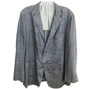 Hickey Freeman Linen Silk sport coat blazer 46R